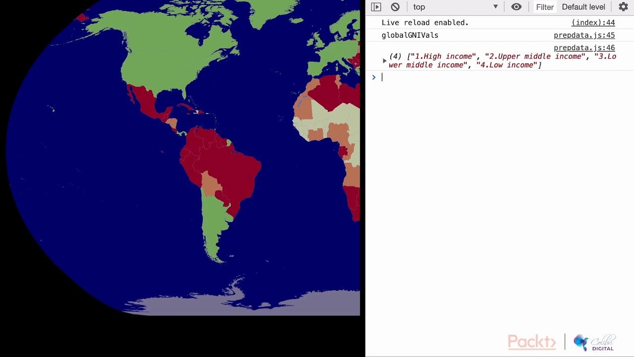 Mastering D3 js 5: Adding Legend Text to the Screen | packtpub com