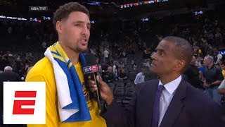 Klay Thompson: We want to close out the series in Game 4 and get everyone back healthy | ESPN thumbnail