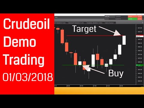 Crudeoil Trading: Crude oil Demo Trading 01/03/2018