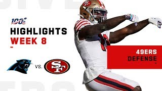 49ers Smoke Panthers w/ 7 Sacks & 3 INTs | NFL 2019 Highlights