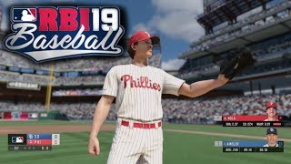 RBI Baseball 19 Gameplay - Philadelphia Phillies vs San Diego Padres 3 Inning Game (Xbox One) 1080p