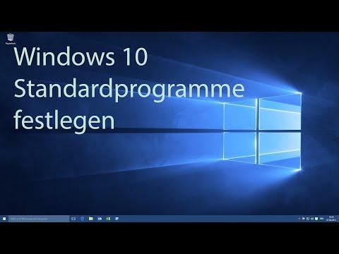 Windows 10 - Standardprogramme Festlegen