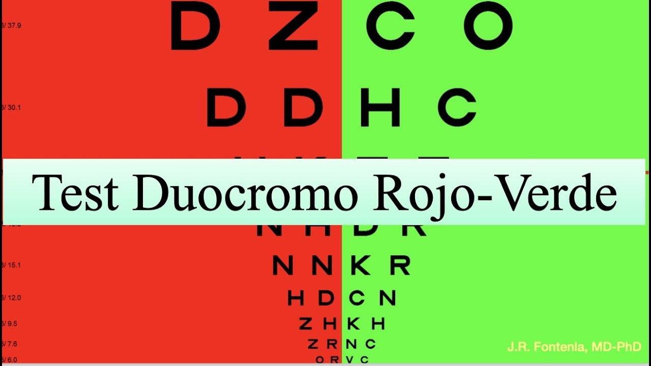test de vedere duocrom)