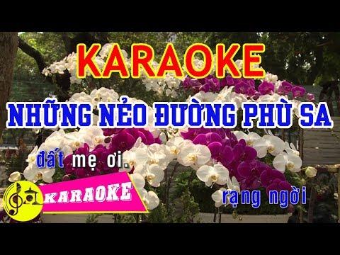 Những Nẻo Đường Phù Sa Karaoke || Beat Chuẩn