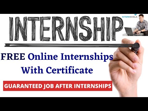Wow! Free Internship With Free Certificate   Get Job After Learning   How To Get Remote Jobs Easily