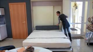 видео Двухъярусная кровать-диван: с диваном внизу, детская, диван-трансформер (фото)