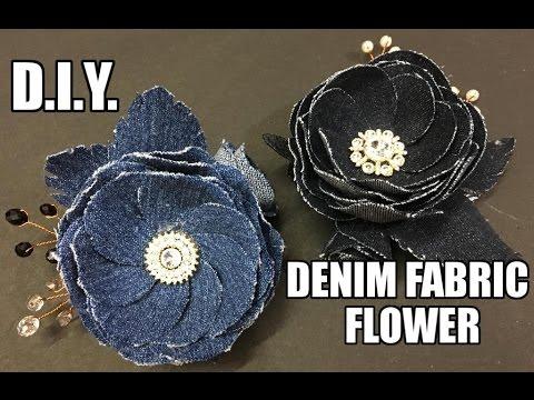 D.I.Y. Denim Fabric Flower Accessory | MyInDulzens