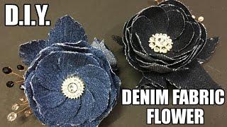 Flores em jeans – Reciclagem