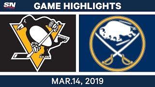 NHL Highlights | Penguins vs. Sabres  – Mar 14, 2019