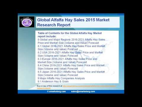 Alfalfa Hay Market Projections to 2021 and Professionally Analysed Industry Chain Structure