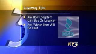 BBB Brief - Layaway Tips