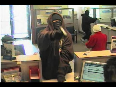 LIVE STATE BANK ROBBERY CAUGHT ON CCTV CAMERA