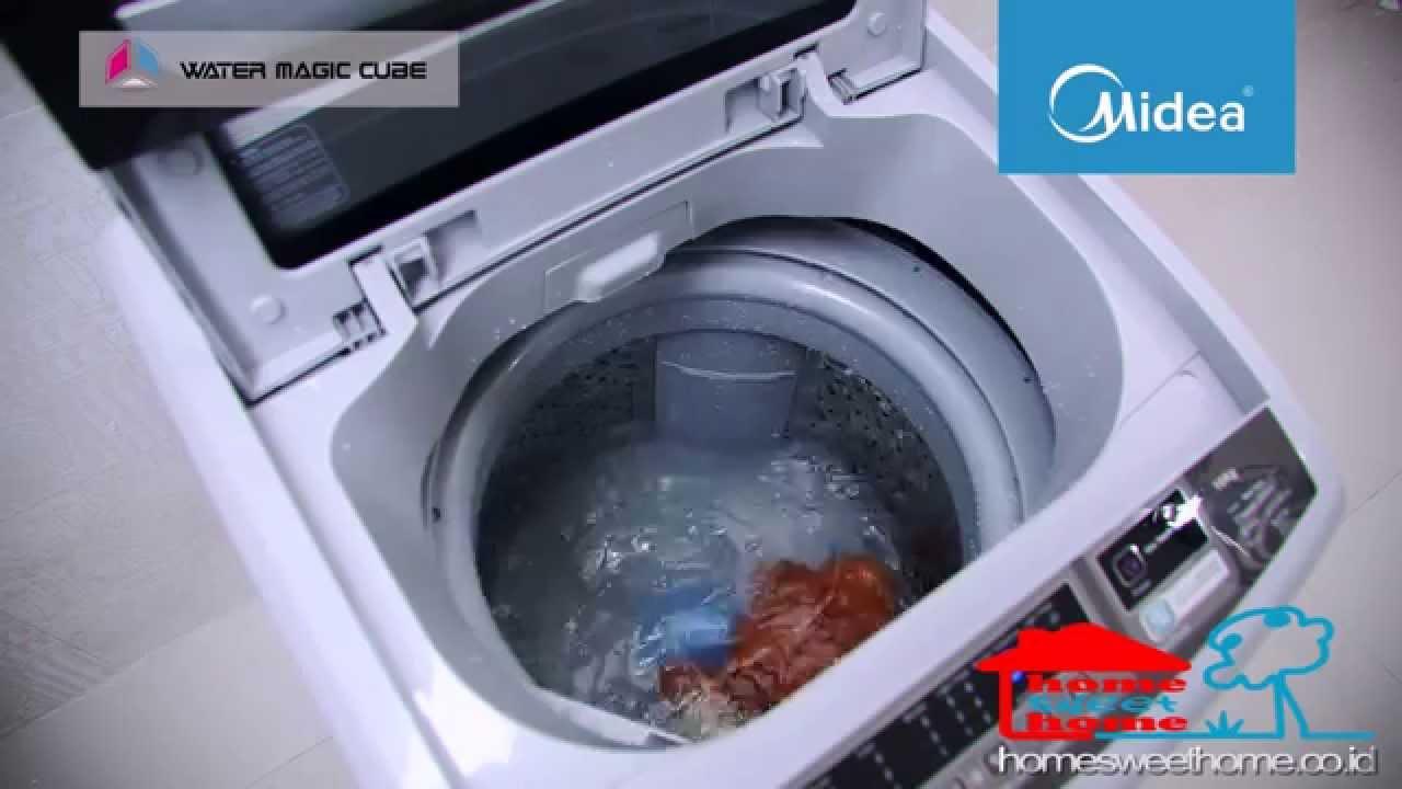 Mesin Cuci Berkualitas Dengan Sistem Pencucian Magic Terbaru Dari Midea Water Magic Cube Youtube