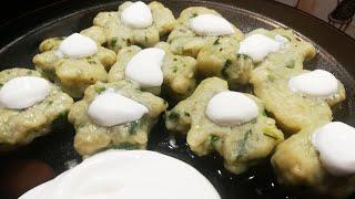 Ленивые вареники с зелёным луком и сыром. Для самых ленивых.