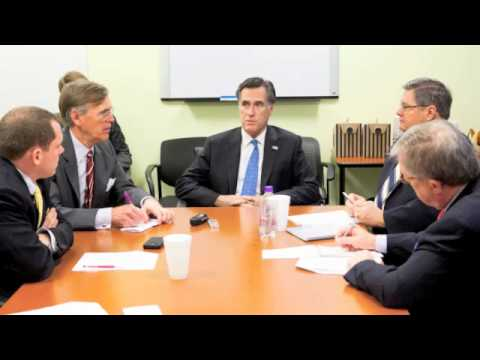 Mitt Romney meets with the Washington Examiner Editorial board (Part 1)