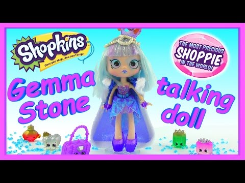 LIMITED EDITION TALKING Shopkins Shoppies Gemma Stone with Exclusive Shopkins Surprise Blind Bags