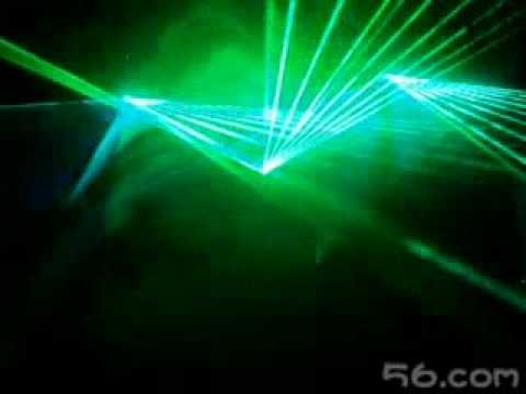 Diamond Laser Professional Laser Show system 5000mw green - YouTube