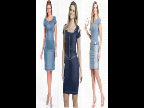 moda evangelica vestidos jeans - YouTube 60a983977421