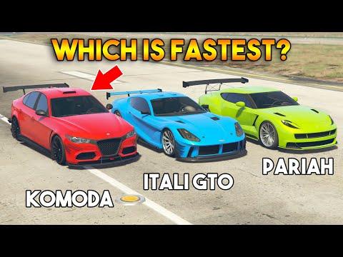 GTA 5 ONLINE : KOMODA VS PARIAH VS ITALI GTO (WHICH IS FASTEST SPORT CAR?)