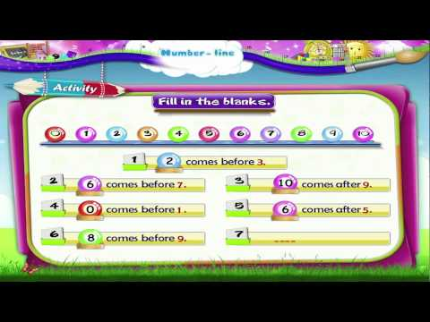 Learn Grade 1 - Maths - Number line