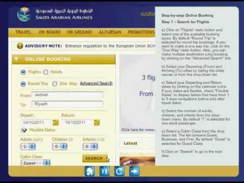 saudi airline booking ticket