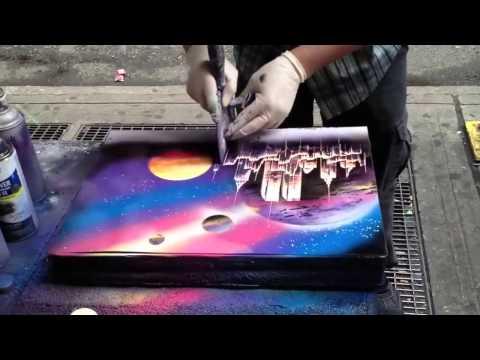 Graffiti Street Artist Painter Awesome! / Artista de Rua Pintor Grafite Impressionante!