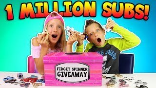 1 MILLION SUBSCRIBERS SPECIAL!!!! FIDGET SPINNER GIVEAWAY!