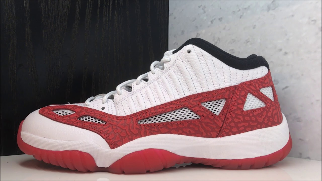 94be2a0f555d Air Jordan 11 IE Low Gym Red Retro Sneaker Review - YouTube