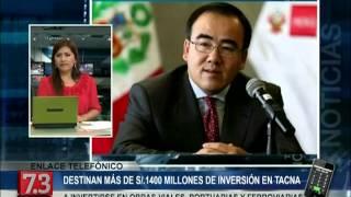 Ministro Gallardo destaca Inversión de S/. 1,472 Millones en obras en la Región Tacna (Canal 7.3)