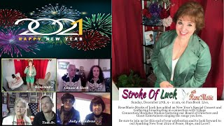 ReneMarie Stroke of Luck Show - Sunday, December 27th, 9 - 11 am/ BLESSED NEW YEAR