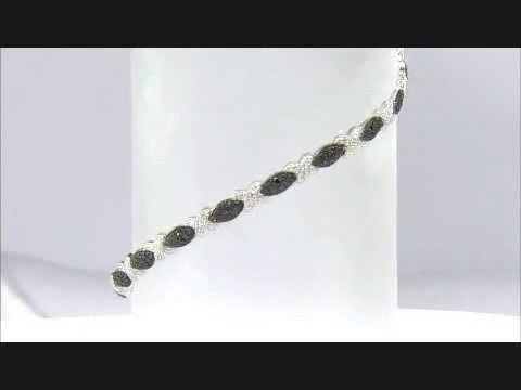 BLACK VELVET DIAMOND LUXURIOUS MARQUISE BRACELET