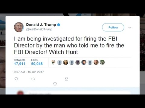 Trump says he's being investigated over Comey