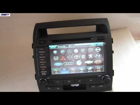 8-дюймовый Toyota Land Cruiser DVD-плеер с GPS Bluetooth, FM / AM, Android, 3G, WiFi