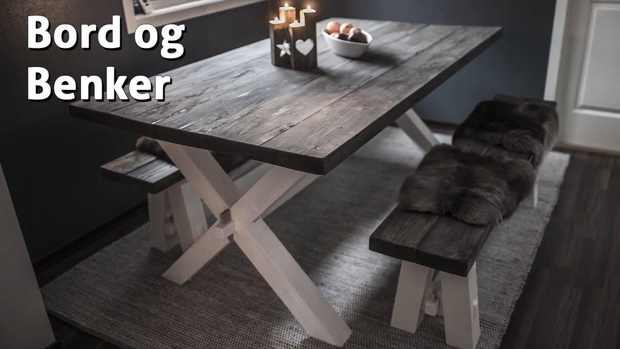Uvanlig Hvordan lage bord og benker - YouTube ID-74