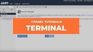 cPanel & WHM Tutorials: Terminal thumbnail