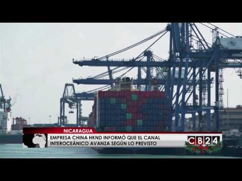 Empresa china HKND informó que el canal interoceánico en Nicaragua avanza según lo previsto
