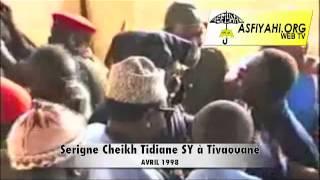 TIVAOUANE : Arrivée en Hélicoptère de Serigne Cheikh Tidiane Sy AL Maktoum , Avril 1998