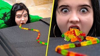 Gummy Bears Challenge! Gummy Bears Hacks!