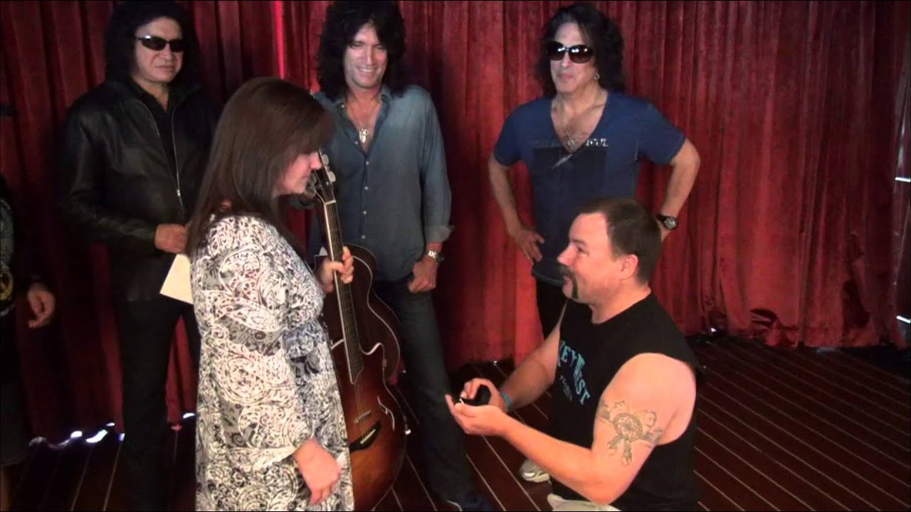 She said YES! Congratulations to KISS fans Lauren & Jeff!