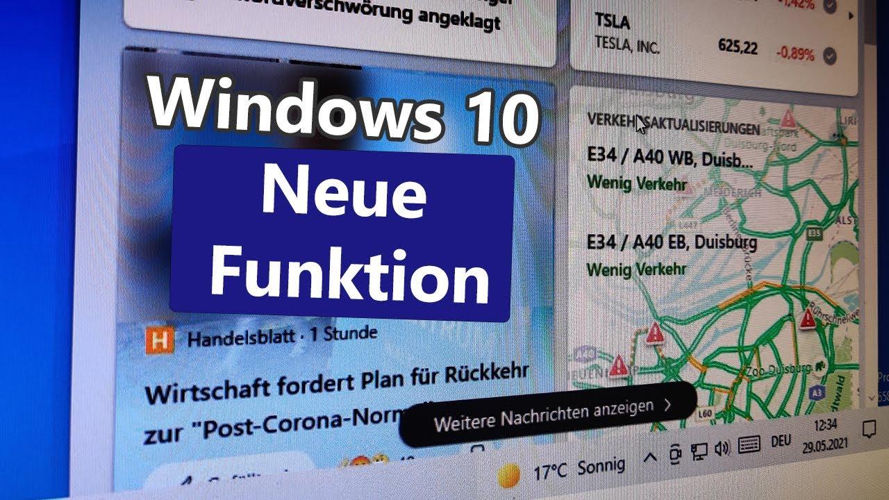 Download Neue Windows-Funktion: Nachrichten in der Taskleiste