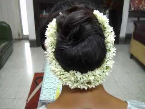 A Low Bun Hairstyle With Jasmine Garland Womens Pride Youtube