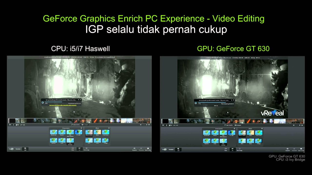 GPU VS CPU - Video Editing vReveal 3 [ID] - YouTube