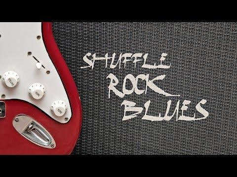 Rock Blues Shuffle Guitar Backing Track D Minor