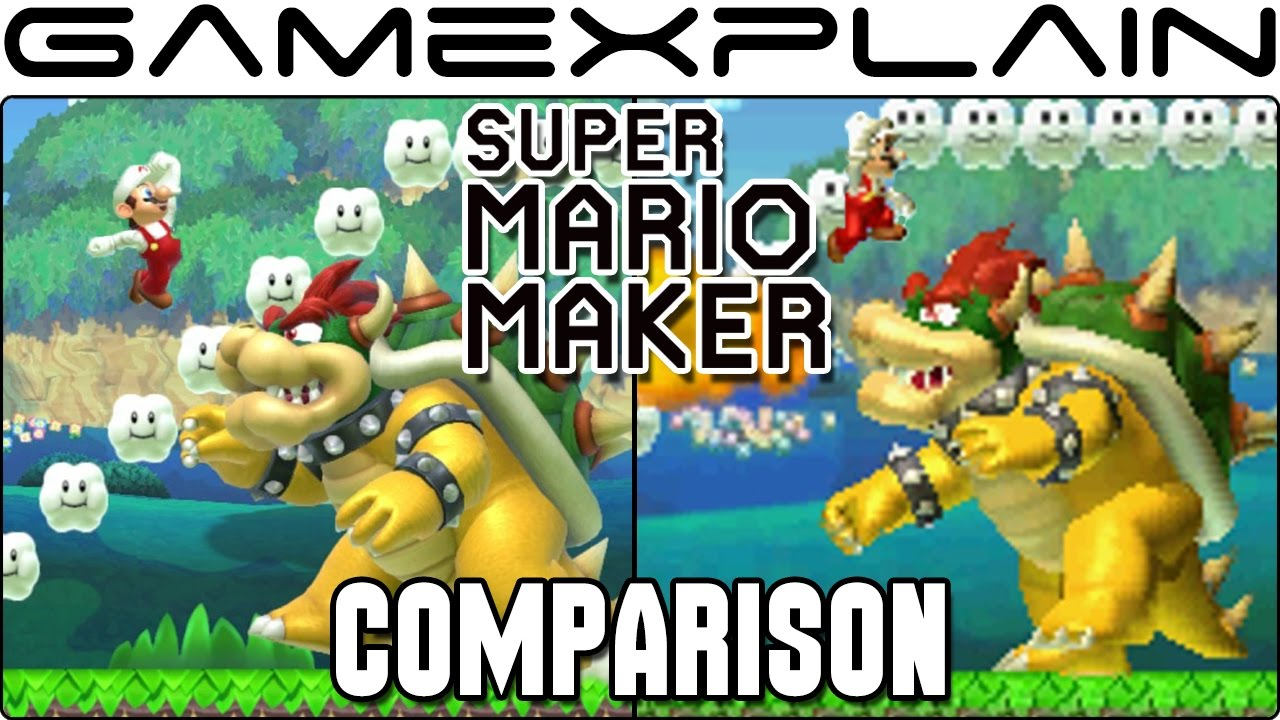 Download Super Mario Maker 3DS Head-to-Head Comparison (Wii U vs. 3DS )