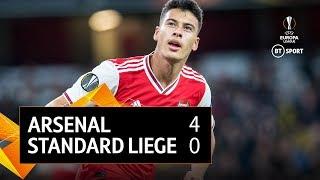 Arsenal vs Standard Liege (4-0) | UEFA Europa League Highlights