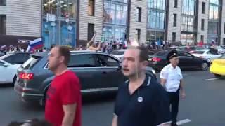 Москва после победы Сборной России над Испанией #3
