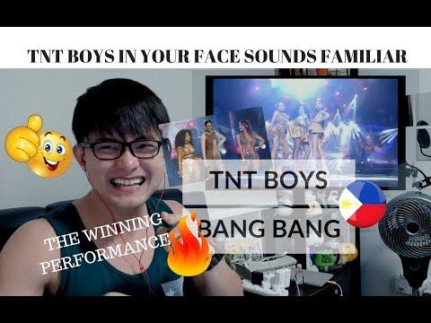 REACTION WINNING PERFORMANCE! TNT BOYS sings BANG BANG!  Your Face Sounds Familiar  #JANGReacts