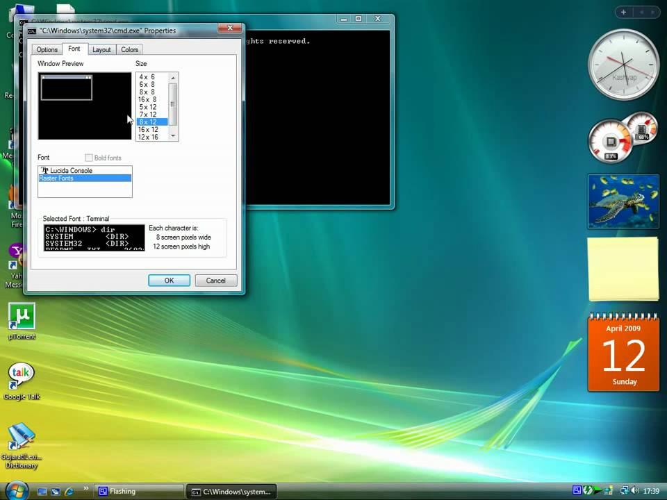 Full screen in DOS mode in Windows Vista - YouTube