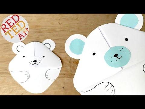 Easy Polar Bear Bookmark Corner - Paper Crafts