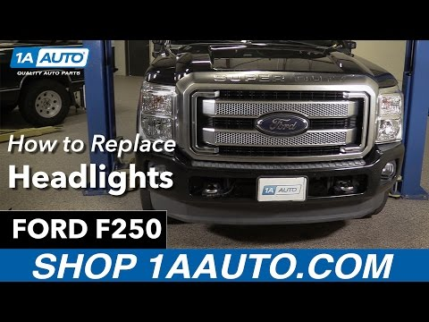 How to Replace Headlights 11-16 Ford F250 Diesel